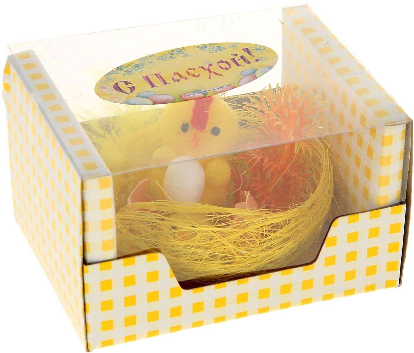 Сувенир пасхальный Sima-land Цыпа с цыпленком в скорлупе и яйцом74-0120Дарить подарки на Пасху – это такая же традиция, как красить яйца и выпекать куличи. Презенты вдвойне приятнее, если они несут в себе сакральный смысл и имеют какое-то значение.Сувенир Цыпа с цыпленком в скорлупе и яйцом - это символ возрождения и непрерывности жизни. С его помощью вы сможете украсить жилище, преподнести его близкому человеку или использовать при сервировке стола всю пасхальную неделю. Кроме того, пасхальные цыплята нравятся маленьким деткам.