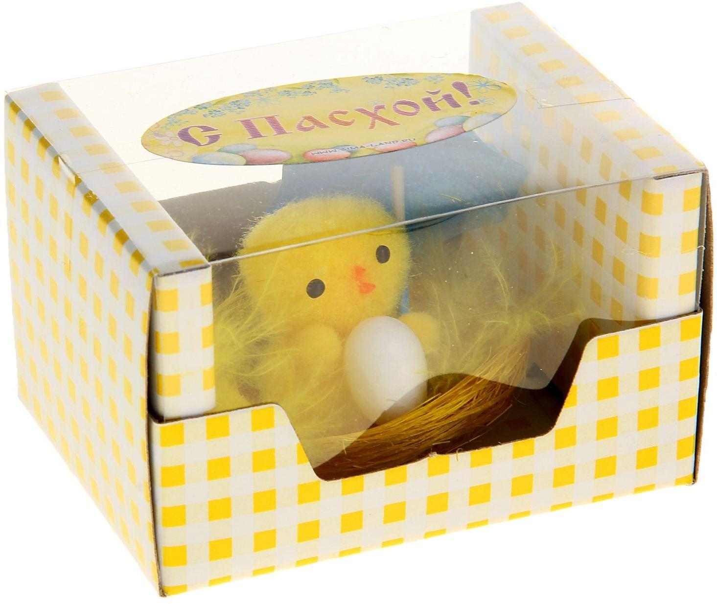 Сувенир пасхальный Sima-land Цыпа под зонтиком700047Дарить подарки на Пасху – это такая же традиция, как красить яйца и выпекать куличи. Презенты вдвойне приятнее, если они несут в себе сакральный смысл и имеют какое-то значение.Сувенир Цыпа под зонтиком - это символ возрождения и непрерывности жизни. С его помощью вы сможете украсить жилище, преподнести его близкому человеку или использовать при сервировке стола всю пасхальную неделю. Кроме того, пасхальные цыплята нравятся маленьким деткам.