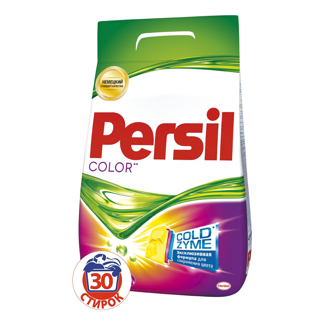Стиральный порошок Persil Колор 4,5 кгCLP446Persil Color - стиральный порошок с сильной формулой, которая содержит активные капсулы пятновыводителя. Капсулы пятновыводителя быстро растворяются в воде и начинают действовать на пятно уже в самом начале стирки. Благодаря специальной формуле Persil Color отлично удаляет даже сложные пятна, а специальные цветозащитные компоненты сохраняют яркие цвета ткани. Persil Color для безупречной чистоты Вашего белья.Состав: 5-15% анионные ПАВ; Товар сертифицирован.