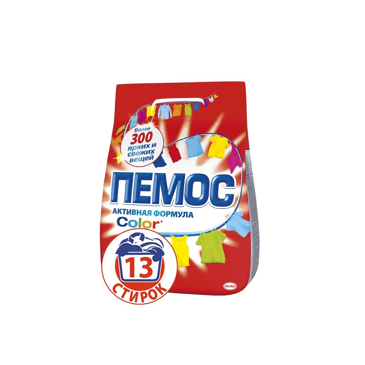 Стиральный порошок Пемос Color, для цветного белья, 2 кг787502Пемос Color - стиральный порошок для стирки цветного белья с эффективной формулой, которая отлично отстирывает различные загрязнения. Проникая между волокнами ткани, он растворяет и удаляет грязь, а содержащиеся специальные компоненты сохраняют цвета ткани яркими. С помощью одной пачки вы сможете отстирать более 300 вещей. Стиральный порошок Пемос Color - стирает много, стоит недорого. Товар сертифицирован.