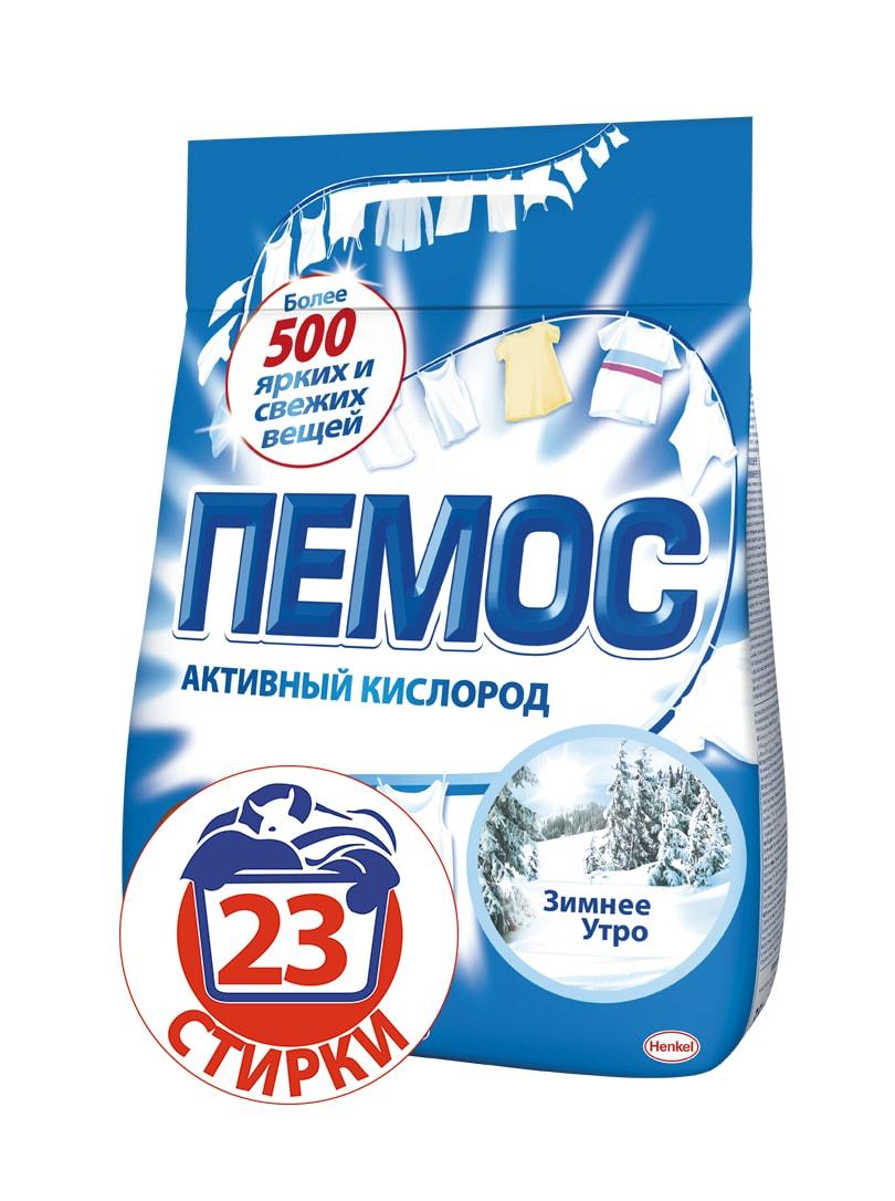 Стиральный порошок Пемос Зимнее утро, для белого и светлого белья, 3,5 кг790009Пемос Зимнее утро - стиральный порошок с эффективной формулой, которая отлично отстирывает различные загрязнения. Проникая между волокнами ткани, он растворяте и удаляет грязь, а содержащийся в его вормуле активный кислород придает вашим вещам сияющую белизну. С помощью всего лишь одной пачки вы сможете отстирать более 500 вещей. Пемос Зимнее утро - стирает много, стоит недорого.