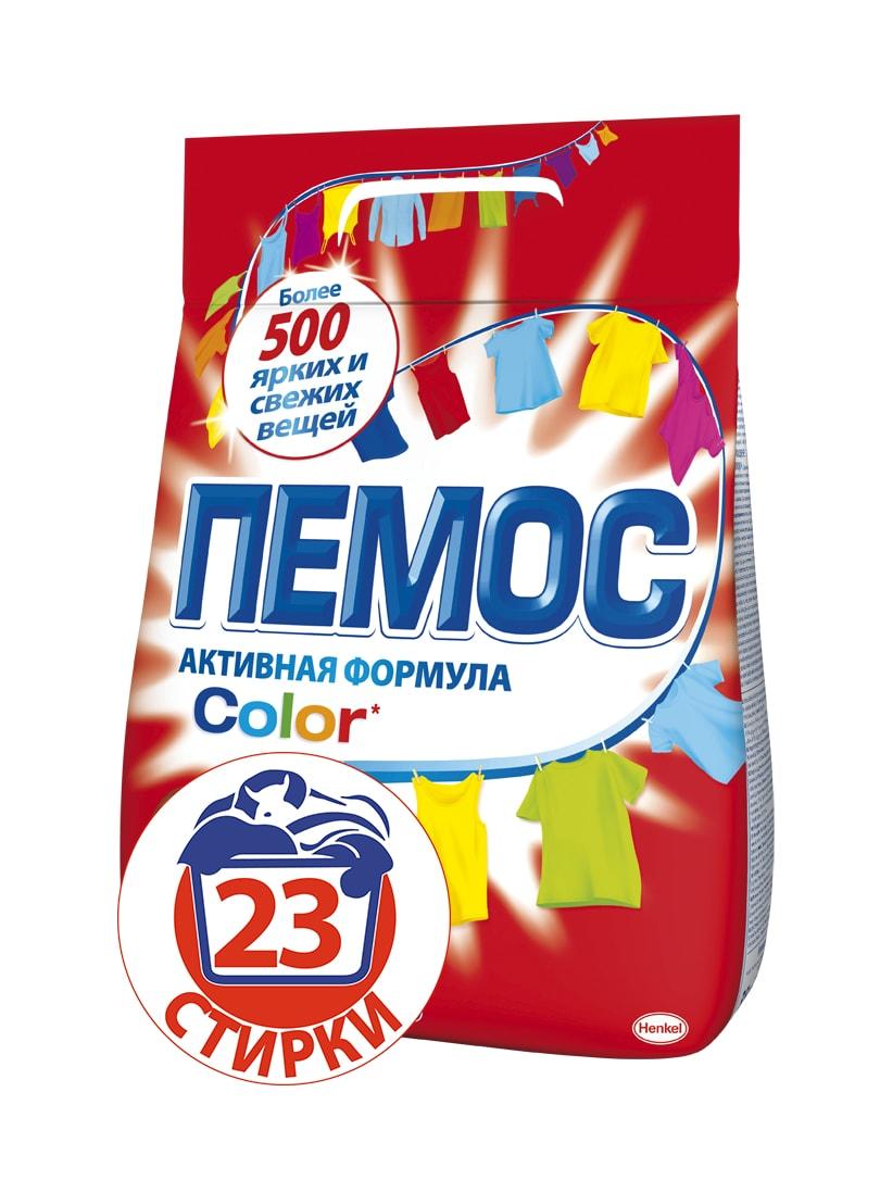 Стиральный порошок Пемос Color, для цветного белья, 3,5 кгGC013/00Пемос Color - стиральный порошок для стирки цветного белья с эффективной формулой, которая отлично отстирывает различные загрязнения. Проникая между волокнами ткани, он растворяет и удаляет грязь, а содержащиеся специальные компоненты сохраняют цвета ткани яркими. С помощью одной пачки вы сможете отстирать более 500 вещей. Стиральный порошок Пемос Color - стирает много, стоит недорого. Товар сертифицирован.