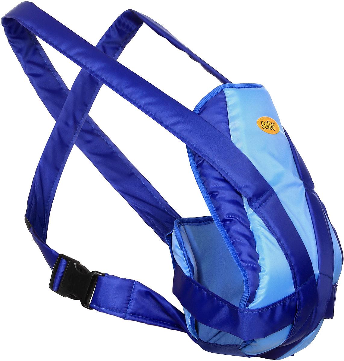 Selby Рюкзак-кенгуру Классик цвет голубой синий рюкзак кенгуру selby классик серый