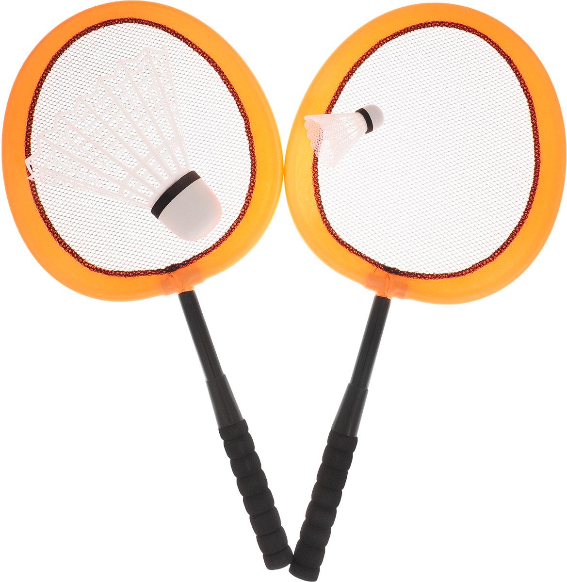 ABtoys Игровой набор Бадминтон цвет оранжевый