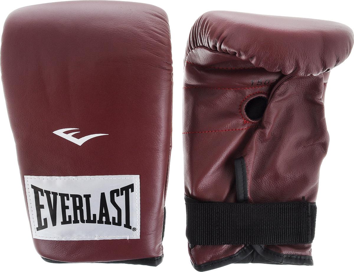 """Перчатки снарядные """"Everlast"""", профессиональные, цвет: бордовый, белый. Размер XL"""