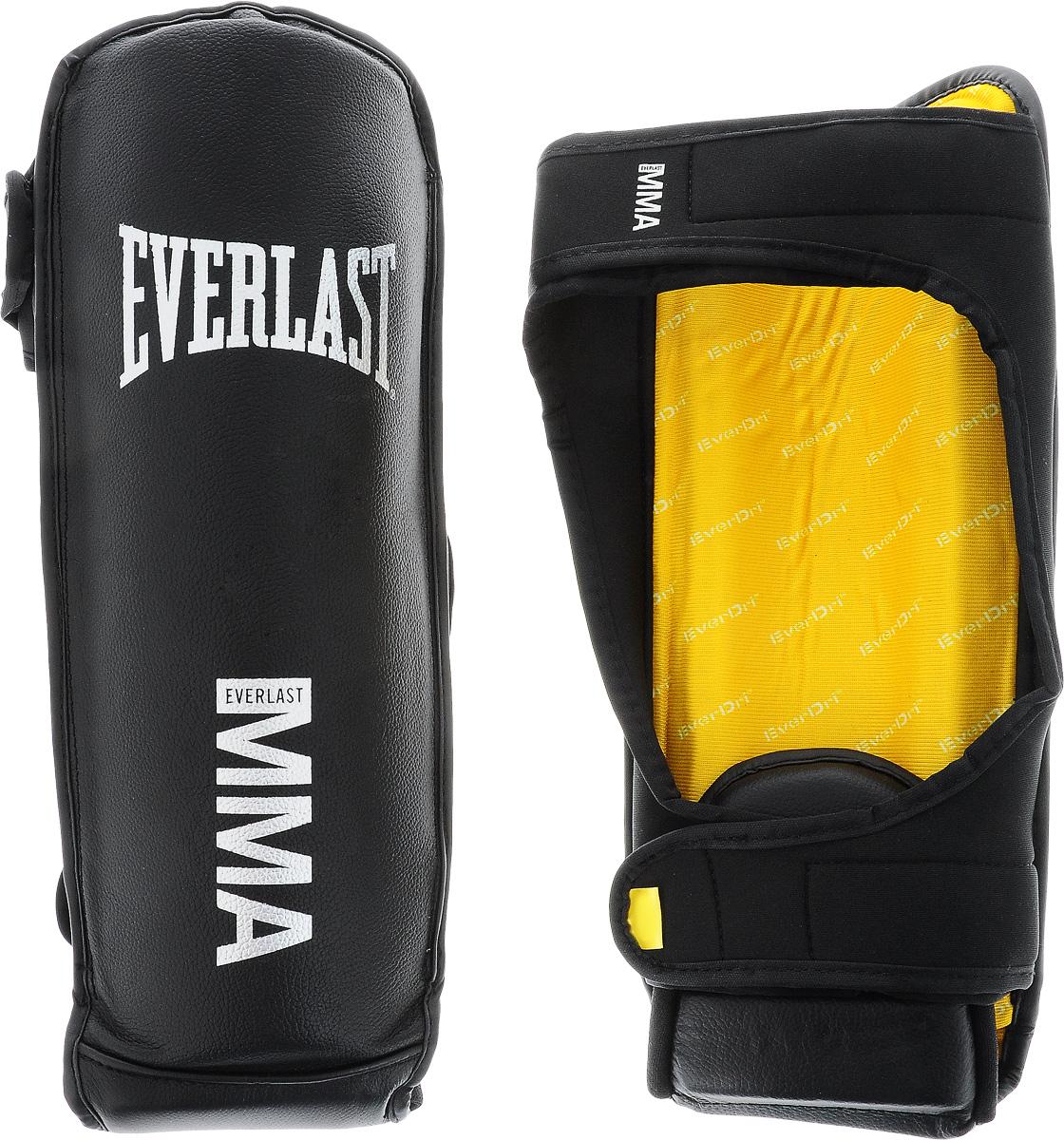Защита голени и стопы Everlast Grappling, цвет: черный, светло-серый. Размер S/MAQ7754Защита голени и стопы Everlast Grappling спроектирована специально для ММА. Верх выполнен из высококачественной натуральной кожи. Акцентированное расположение пенного наполнителя обеспечивает отличную защиту. Закрепляется на ноге при помощи ремня на липучке.
