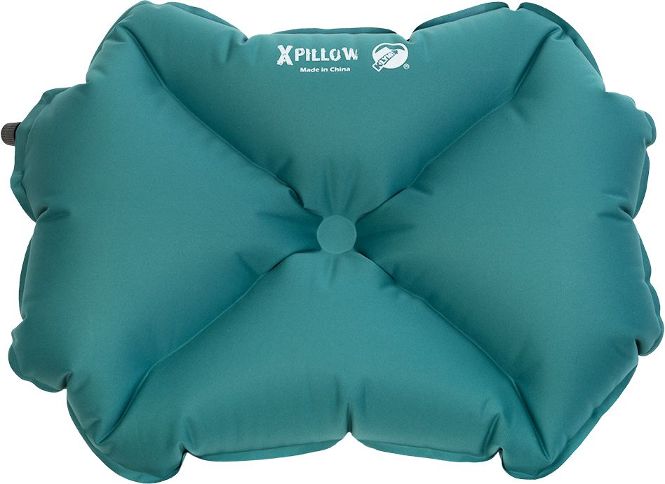 Надувная подушка Klymit Pillow X large Green, цвет: зеленая - Подушки, пледы, коврики
