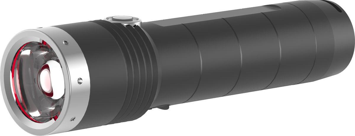 Фонарь LED Lenser MT10, с аккумулятором, цвет: черный. 500843500843Аккумуляторный фонарь LED Lenser MT10 отлично пдойдет для использования в походах, на рыбалке или охоте. Он легкий и компактный, корпус выполнен из алюминия. Характеристики:- Инновационные системы – SLT (3 режима+стробоскоп);- AFS; - Быстрый фокус RF; - Световой поток- 1 000 лм;- Дальность – 180;- Время свечения в экономичном режиме - 144 часа; - 1 белый светодиод СREE - Xtreme LED; - Питание - 18650 Li-ion, 3.7V$- Мощность -3 400 mAh;- Перезаряжаемость 80% после 240 минут;- Индикатор зарядки батареи; - Защита от перегрева, от случайного включения.Длина - 128 мм. Вес - 156 г. В комплекте: USB-кабель, нейлоновый чехол, темляк, инструкция.