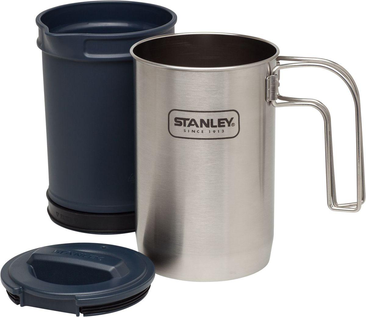 Набор походной посуды Stanley Adventure цвет: стальной, 0,95 л10-02345-002Компактный набор походной посуды Stanley Adventure состоит из котелка со складной ручкой для приготовления пищи и пластикового стакана c завинчивающейся крышкой для заваривания чая или кофе. Котелок выполнен из нержавеющей стали.Подходит для мытья в посудомоечной машине.