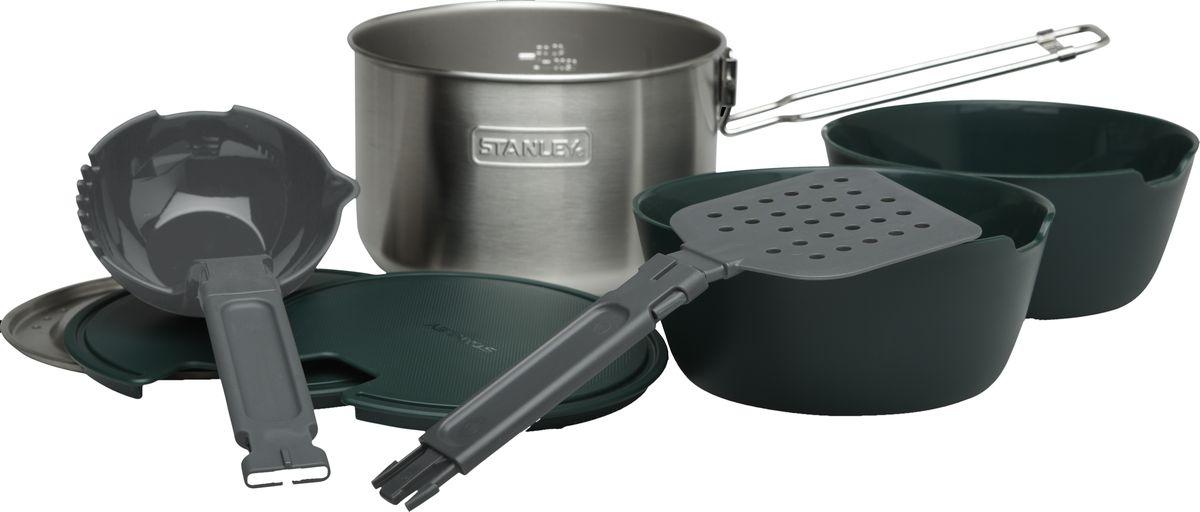Набор походной посуды Stanley  COOK , 1,5 л, цвет: стальной, 5 предметов - Туристическая посуда