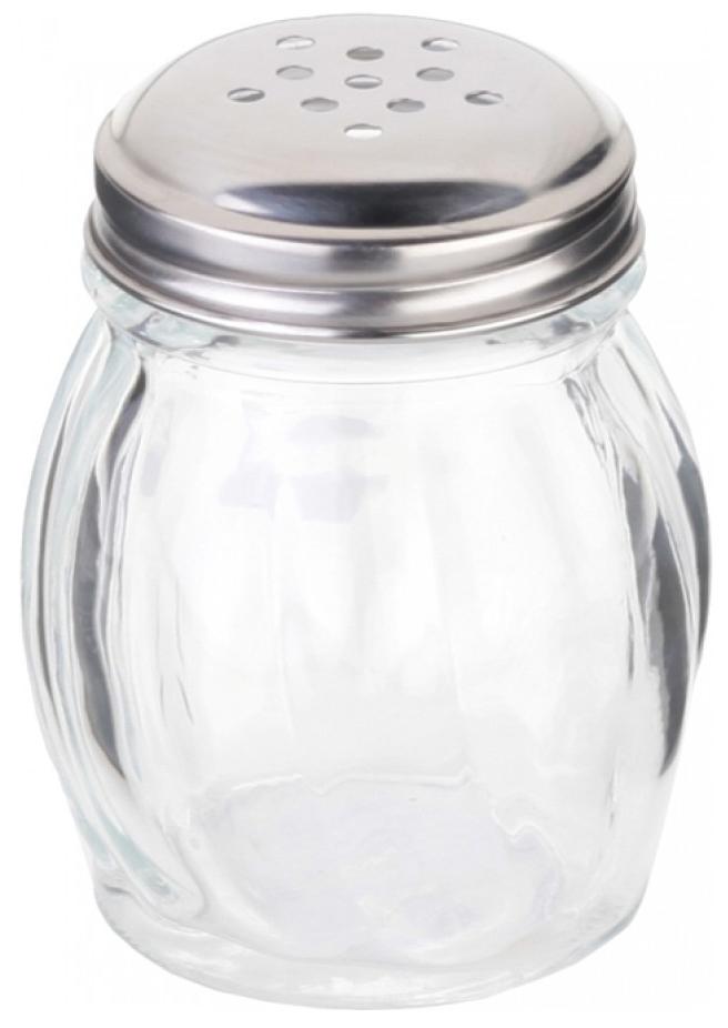 Солонка Walmer Wave, цвет: серый, прозрачный, 0,15 лW05120115Солонка Walmer Wave выполнена из качественного прочного стекла и снабжена металлической крышкой. Она легка в использовании, стоит только перевернуть ее, и вы с легкостью сможете посолить ваше блюдо. Крышка легко откручивается, что позволяет без труда наполнять емкость. Диаметр основания: 5 см.Высота емкости: 8,5 см.
