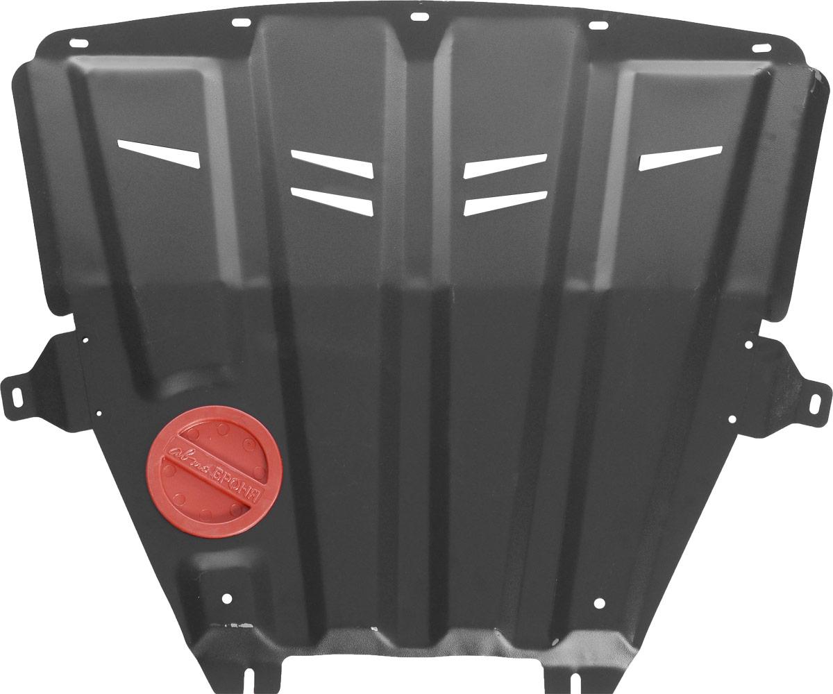 Защита картера и КПП Автоброня, для Lada Vesta. 1.06029.1SVC-300Технологически совершенный продукт за невысокую стоимость.Защита разработана с учетом особенностей днища автомобиля, что позволяет сохранить дорожный просвет с минимальным изменением.Защита устанавливается в штатные места кузова автомобиля. Глубокий штамп обеспечивает до двух раз больше жесткости в сравнении с обычной защитой той же толщины. Проштампованные ребра жесткости препятствуют деформации защиты при ударах.Тепловой зазор и вентиляционные отверстия обеспечивают сохранение температурного режима двигателя в норме. Скрытый крепеж предотвращает срыв крепежных элементов при наезде на препятствие.Шумопоглощающие резиновые элементы обеспечивают комфортную езду без вибраций и скрежета металла, а съемные лючки для слива масла и замены фильтра - экономию средств и время.Конструкция изделия не влияет на пассивную безопасность автомобиля (при ударе защита не воздействует на деформационные зоны кузова). Со штатным крепежом. В комплекте инструкция по установке.Толщина стали: 2 мм.