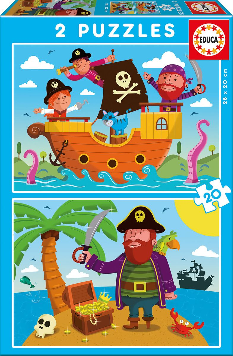 Educa Пазл для малышей Пираты 2 в 1