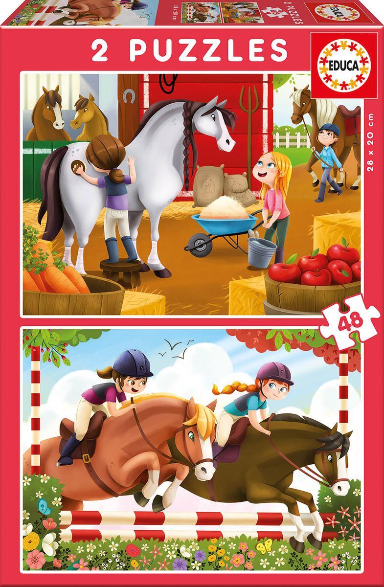 Educa Пазл для малышей Лошади 2 в 1