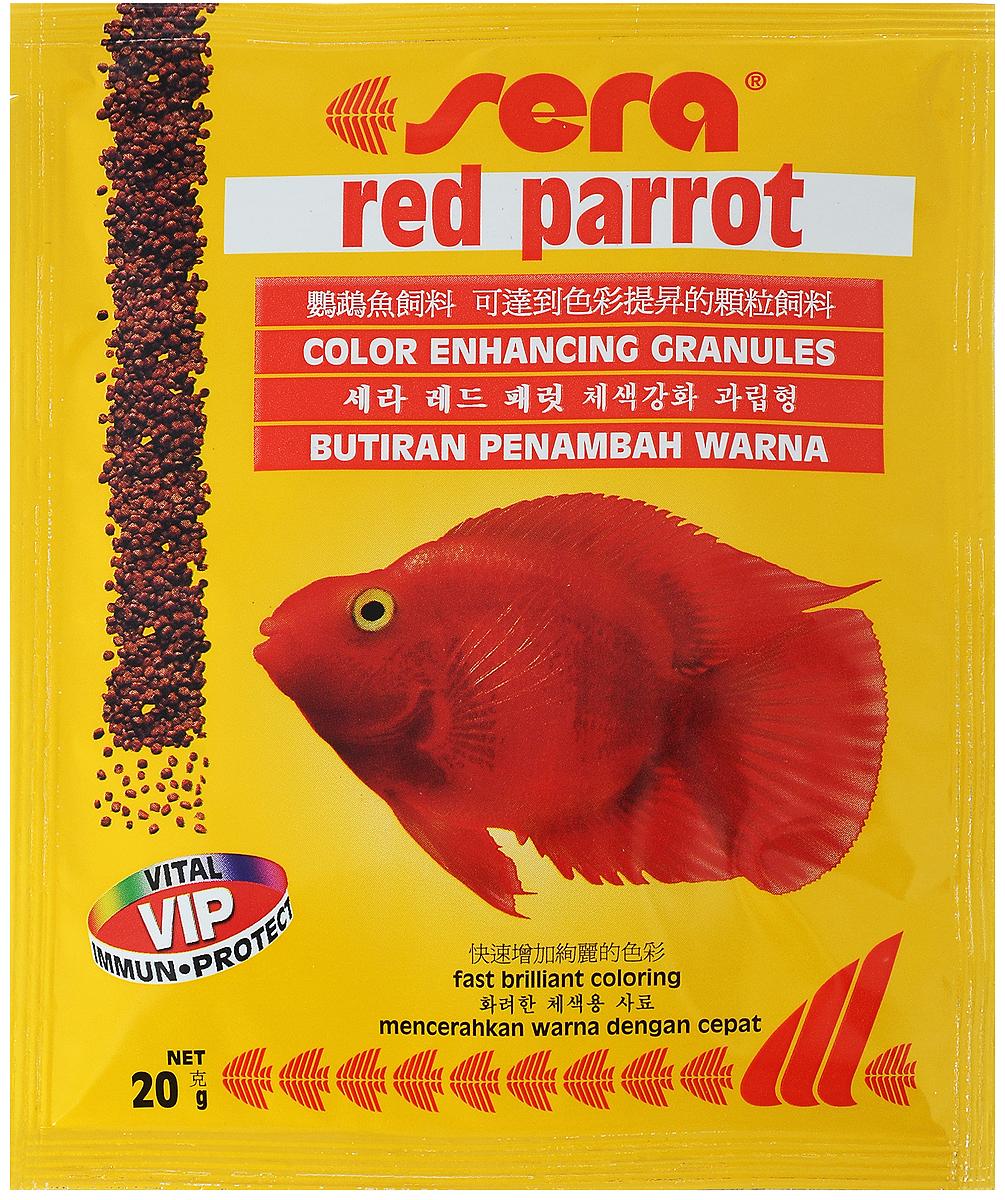 Корм для рыб Sera Red Parrot, 20 г
