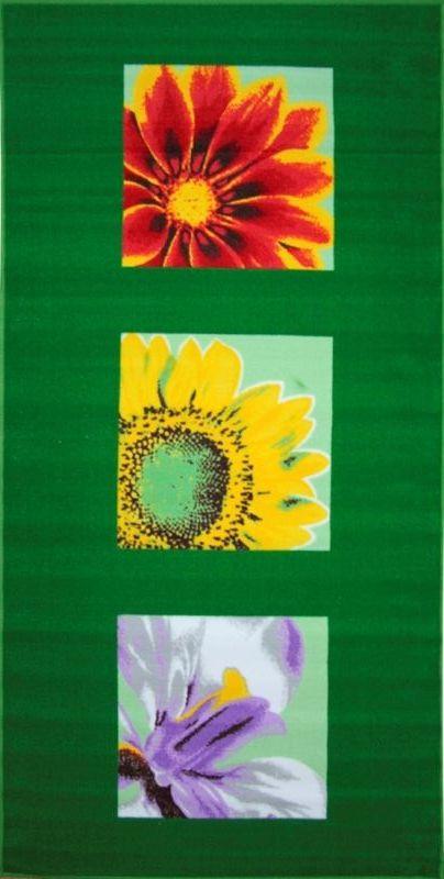Ковер МАС Розетта, цвет: зеленый, 100 х 200 смES-412Влагонепроницаемый коврик на резиновой основе подойдет для любого интерьера в гостиной, ванной или прихожей. Легко моется и чистится.