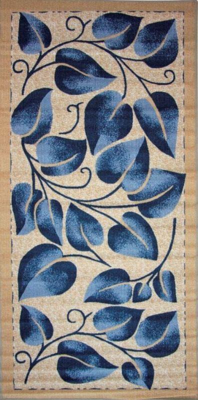 Ковер МАС Розетта. Синие листья, 100 х 200 смES-412Влагонепроницаемый коврик на резиновой основе подойдет для любого интерьера в гостиной, ванной или прихожей. Легко моется и чистится.
