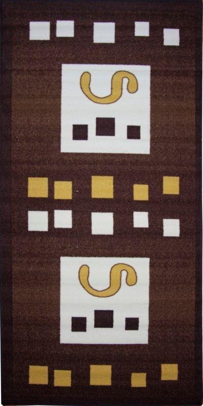 Ковер МАС Розетта. Квадраты, 100 х 200 смES-412Влагонепроницаемый коврик на резиновой основе подойдет для любого интерьера в гостиной, ванной или прихожей. Легко моется и чистится.