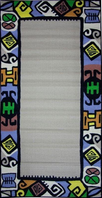 Ковер МАС Розетта. Рамка, 100 х 200 смFS-91909Влагонепроницаемый коврик на резиновой основе подойдет для любого интерьера в гостиной, ванной или прихожей. Легко моется и чистится.