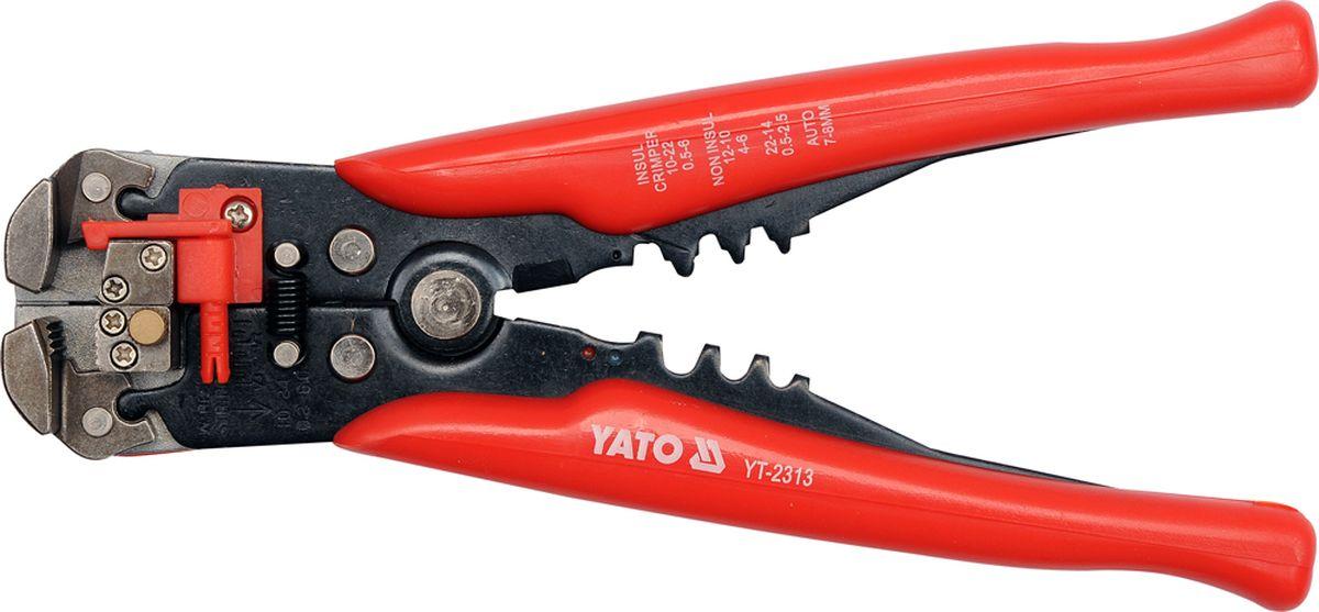 Клещи для снятия изоляции Yato, 205 ммCA-3505Клещи для снятия изоляции YATO, длига 205мм.