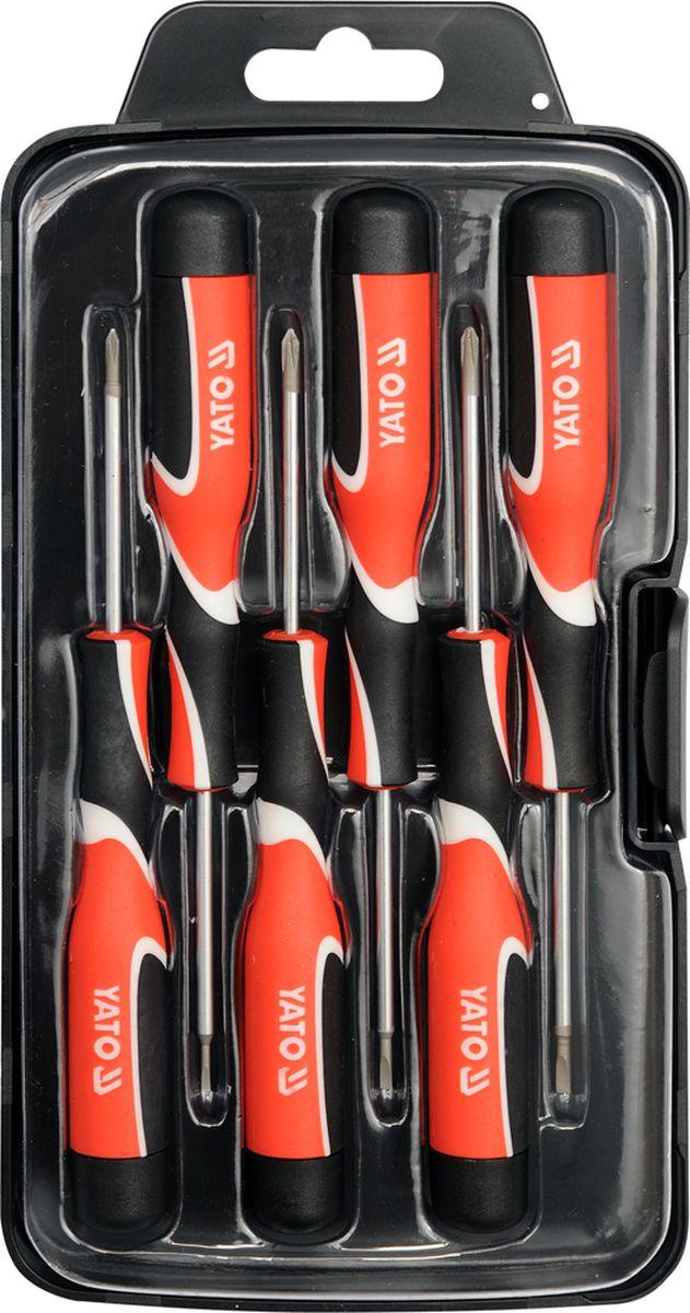 Набор отверток Yato, для точных работ, 6 предметов струбцина магнитная yato для сварки 82х120х13 мм