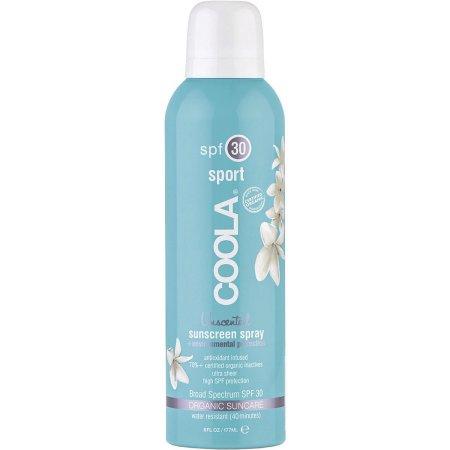 Coola Suncare Солнцезащитный спрей для лица и тела без запаха SPF30 236 млFS-00897На ходу распылите ваш прозрачный солнцезащитный спрей длительного действия без запаха. Обладая высокой степенью защиты SPF 30, этот спрей будет питать, восстанавливать и увлажнять кожу за счет 97% содержащихся в нем, прошедших сертификацию, органических активных компонентов, таких как алоэ, огурец, морские водоросли, экстракт клубники и масло семян малины, натуральный солнцезащитный фактор и противовоспалительный компонент, богатый омегакислотами. Получайте удовольствие от пребывания на солнце вместе с COOLA.