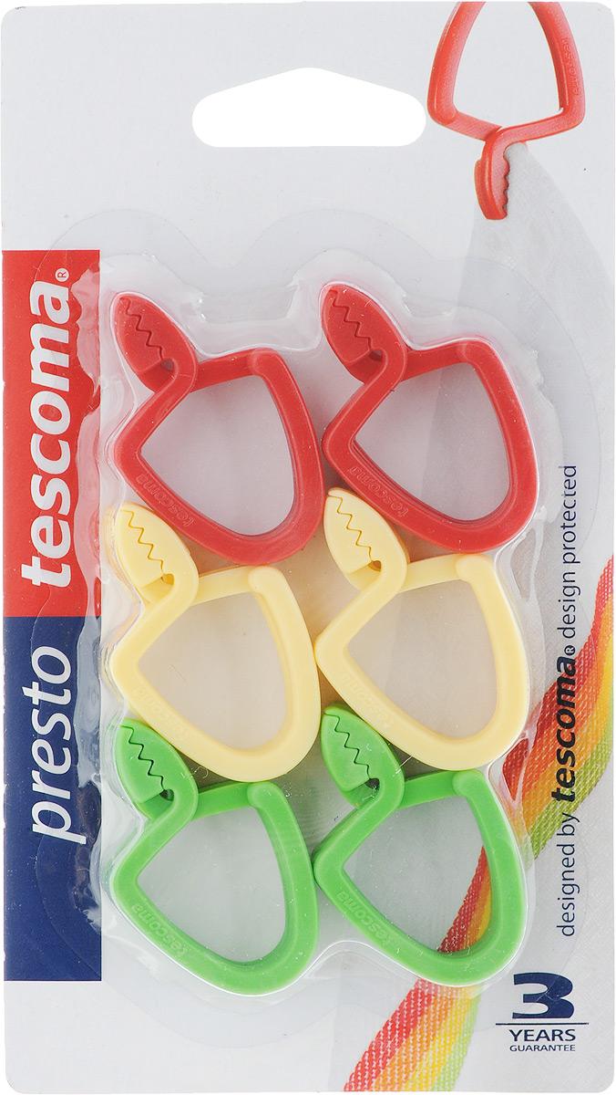 Петля универсальная Tescoma Presto, цвет: красный, желтый, зеленый, 12 штGC204/30Универсальная петля Tescomo Presto подходит для подвешивания полотенец, кухонных рукавиц и т.д. Изготовлена из прочной пластмассы. В комплект входит 12 петель разных цветов (синий, белый, красный, желтый, оранжевый, зеленый.