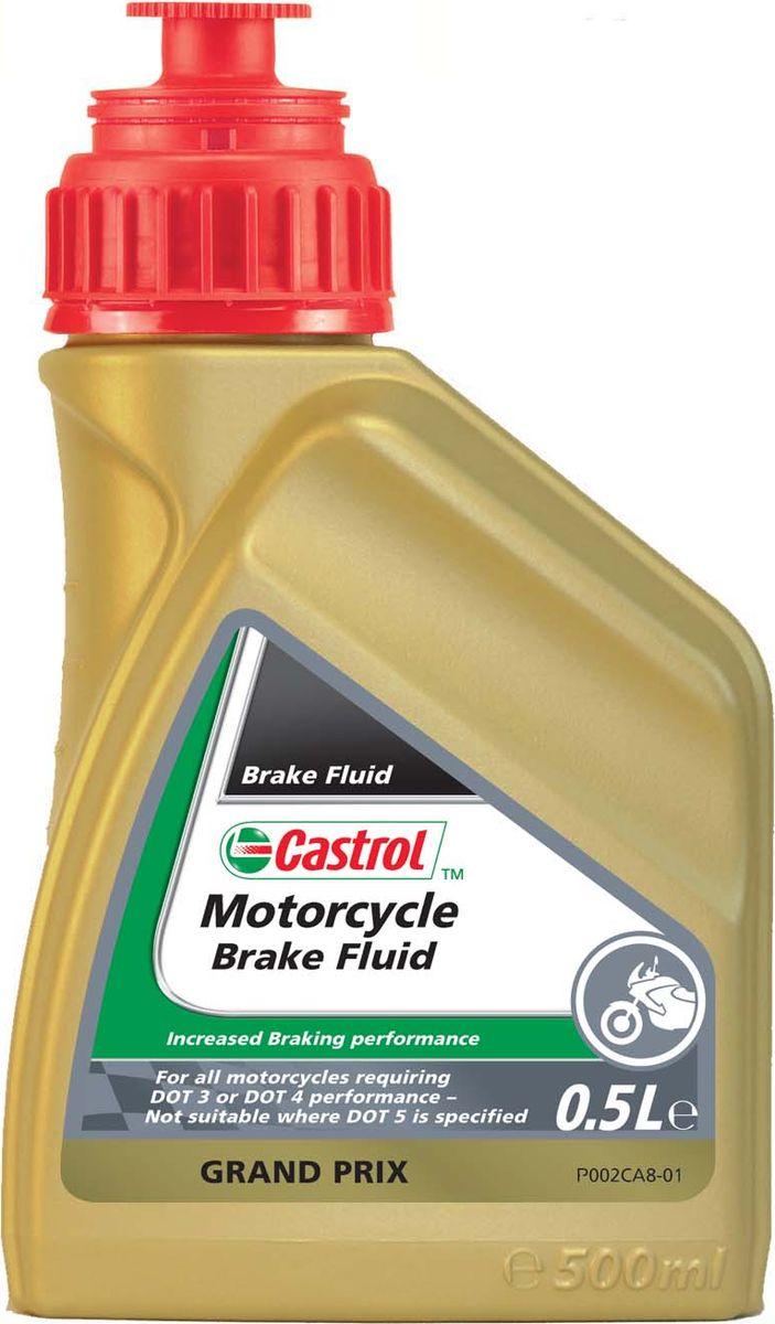 Тормозная жидкость Castrol Motorcycle Brake FluidAGA 001 ZCastrol Motorcycle Brake Fluid – высококачественная полностью синтетическая тормозная жидкость, разработанная для максимальной производительности и эффективности работы тормозных систем двух- и четырехтактных мотоциклов и скутеров. Жидкость имеет исключительно высокую температуру кипения, превышающая стандарт DOT 4, что позволяет применять и в обычных, и в спортивных двухколесных транспортных средствах. Специально подобранная композиция присадок максимально защищает компоненты тормозной системы и резиновые уплотнения, продлевая срок их службы и безопасность.Castrol Motorcycle Brake Fluid – рекомендован для применения во всех категориях мотоциклов и скутеров, и отвечает требованиям большинства производителей техники.ПРИМЕЧАНИЕ: Данная тормозная жидкость не подходит для применения в мотоциклах Harley-Davidson, где предписано к использованию тормозные жидкости на силиконовой основе, отвечающие стандарту DOT 5.ОСНОВНЫЕ ПРЕИМУЩЕСТВА:Предотвращение образования паровых пробок при высоких температурах.Лучшая безопасность при торможениях, в сравнение с обычными тормозными жидкостями.Защита от коррозии и износа, продлевающая срок службы тормозной системы.Великолепные смазывающие свойства, обеспечивающие плавное и безопасное торможение.СПЕЦИФИКАЦИИ/ДОПУСКИ:Превышает стандарт DOT3/DOT4