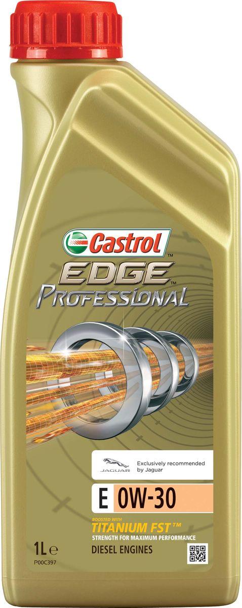Моторное масло EdgeProfessional E 0W-30, 1 л15801DПолностью синтетическое моторное масло Castrol EDGE Professional произведено с использованием новейшей технологииTITANIUM FST™.Технология TITANIUM FST™ на физическом уровне меняет поведение масла Castrol EDGE PROFESSIONAL в условияхэкстремальных нагрузок.Основой технологии TITANIUM FST™ являются полимерные металлоорганические соединения, содержащие титан. Таким образом,титан становится компонентом масла и работает в унисон с технологией усиленной масляной плёнки Fluid Strength Technology(FST™), которая была внедрена в 2011 году. Испытания подтвердили, что TITANIUM FST™ в 2 раза увеличивает прочность маслянойплёнки, предотвращая её разрыв и снижая трение для максимальной производительности двигателя.Используя опыт сотрудничества с автопроизводителями, мы применили такую же технологию, которая ранее использовалась толькопри производстве масла для конвейерной заливки.Моторное масло Castrol EDGE Professional прошло многоуровневую микрофильтрацию. Контроль качества осуществляется сиспользованием новой технологии оптического измерения частиц Castrol – Optical Particle Measurement System (OPMS).Castrol EDGE Professional - первое в мире масло, сертифицированное как CO2- нейтральное в соответствии с мировымистандартами.ПрименениеCastrol EDGE Professional E 0W-30 подходит для бензиновых и дизельных двигателей, в которых производитель агрегатапредписывает применять моторные масла, соответствующие отраслевому стандарту ACEA С2 и степени вязкости SAE 0W-30.Castrol EDGE Professional E 0W-30 рекомендовано для использования в двигателях автомобилей, требующих применения смазочныхматериалов, одобренных согласно спецификации Jaguar Land Rover ST JLR.03.5007 в классе вязкости SAE 0W-30.ПреимуществаCastrol EDGE Professional E 0W-30 обеспечивает надёжную и максимально эффективную работу современных высокооборотныхдвигателей производителей спортивной и тюнингованной техники, а также автомобилей класса люкс, требующих высокого уровнязащиты