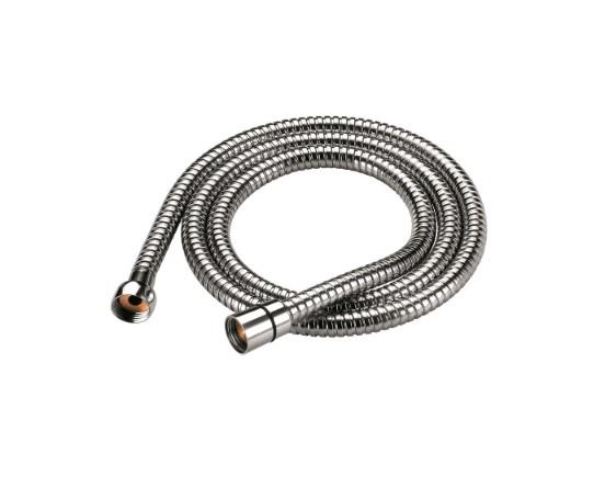 Душевой шланг Iddis, 1,5 м. A50611 1.5Шланг для душа Iddis изготовлен из ПВХ, армированного алюминиевой лентой и усиленного продольными нитями из полимерного материала, что придает ему исключительную прочность. Шланг оборудован системой Twist Free, предотвращающей его перекручивание. В комплект входят прокладка с фильтром 300 мкм, которая защищает форсунки лейки от засорения, что продлевает срок ее службы, и уплотнительное кольцо для более четкой фиксации лейки в держателе.