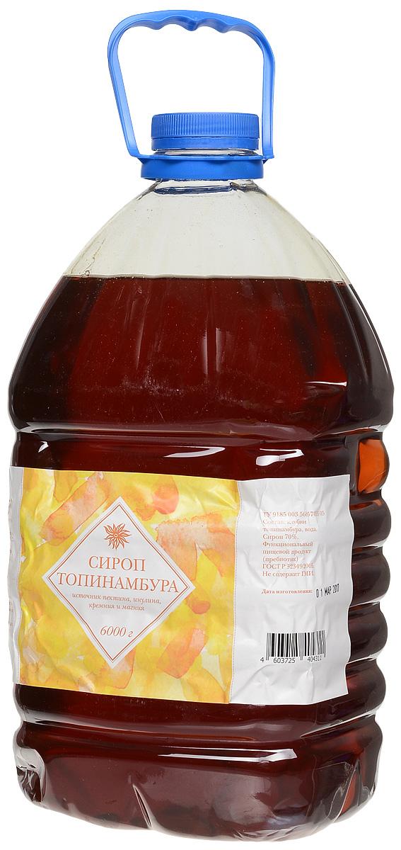 Seryogina сироп топинамбура без лимонного сока, 6 л0120710Сироп топинамбура изготавливается без добавления сахара и фруктозы, а натуральный лимонный сок придает ему лёгкую кислинку. Не обладает ярко выраженным ароматом, поэтому широко используется во многих блюдах и напитках. Сироп удобно и просто применять в кулинарных целях: он легко растворяется в воде.По вкусу напоминает очень молодой жидкий цветочный мед, насыщенного янтарного цвета.