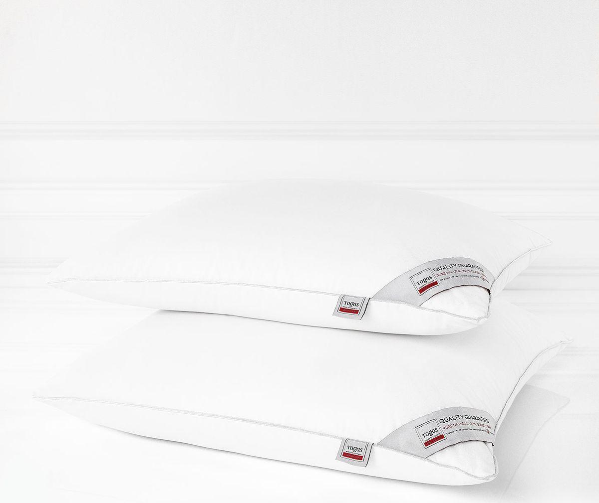 Подушка Togas Алоэ вера, наполнитель: гусиный пух, 70 х 70 см togas подушка алоэ вера пух белого гуся в ткани с пропиткой алоэ вера