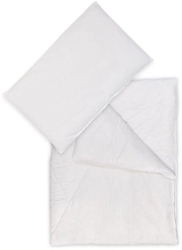 Сонный гномик Комплект в кроватку 2 предмета цвет белый 06296281375Комплект в кроватку из одеяла и подушки Сонный гномик станет прекрасным подарком для мамы и ребенка.Размер, см: Одеяло: 110х140, Подушка: 40х60