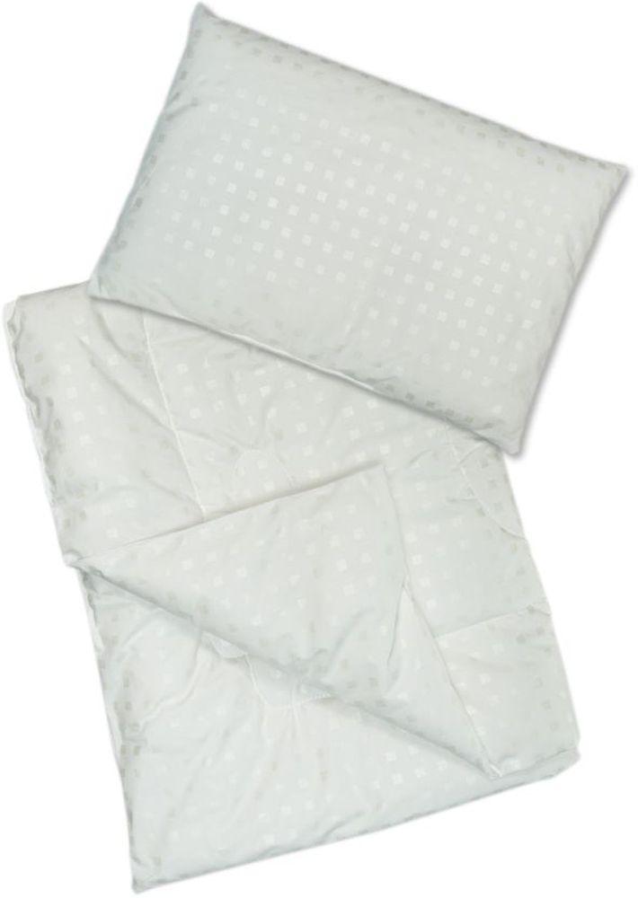 Сонный гномик Комплект в кроватку Эвкалипт 2 предмета цвет белый75011657Комплект в кроватку из одеяла и подушки Сонный гномик Эвкалипт станет прекрасным подарком для мамы и ребенка.Размер, см: Одеяло: 110х140, Подушка: 40х60