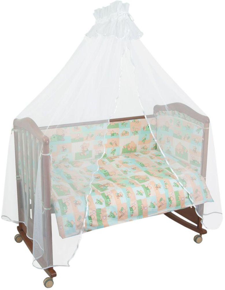Сонный гномик Бортик для кровати Топтыжки цвет светло-зеленый -  Бортики, бамперы