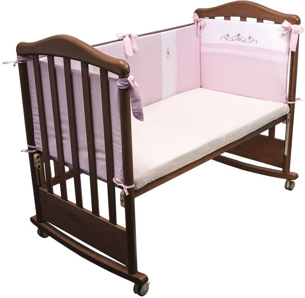 Сонный гномик Бортик для кровати Прованс цвет розовый