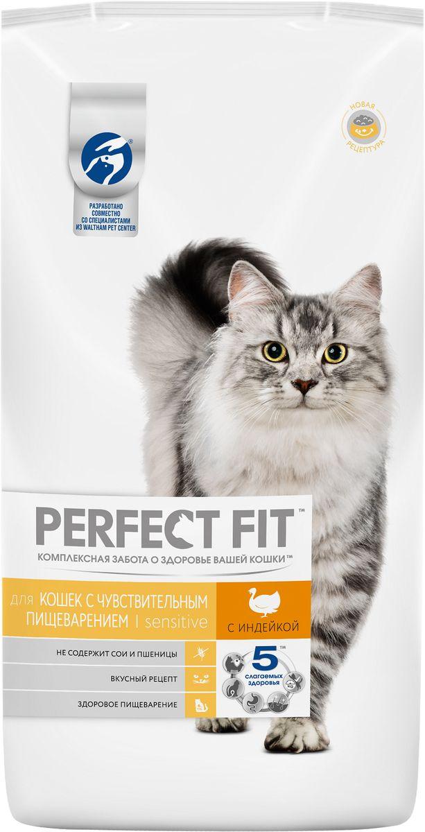 Консервы Perfect Fit, для кошек с чувствительным пищеварением, с индейкой, 3 кг42742Perfect Fit - рацион, адаптированный специально для кошек с особенностями пищеварения. Он содержит пребиотики, способствующие поддержанию здоровой микрофлоры кишечника, и не содержит пшеницы и сои, которые могут вызвать дискомфорт в желудке кошки.Вашу кошку следует кормить кормом комнатной температуры.Товар сертифицирован.