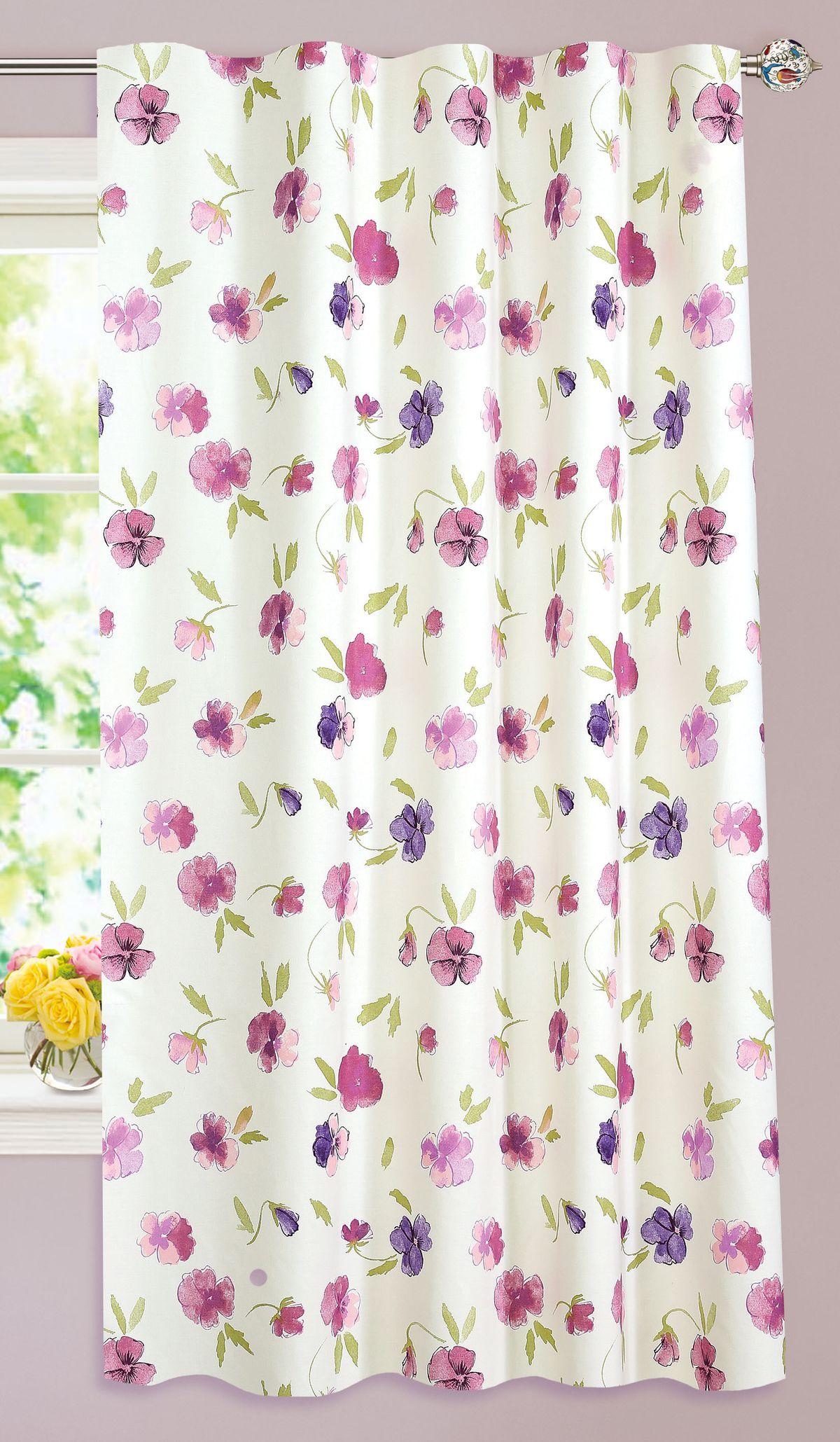 Штора Garden, на ленте, цвет: розовый, высота 180 см. С 10292 - W1687 V2281253Изящная штора Garden выполнена из ткани с оригинальной структурой. Приятная текстура и цвет штор привлекут к себе внимание и органично впишутся в интерьер помещения. Штора крепится на карниз при помощи ленты, которая поможет красиво и равномерно задрапировать верх.