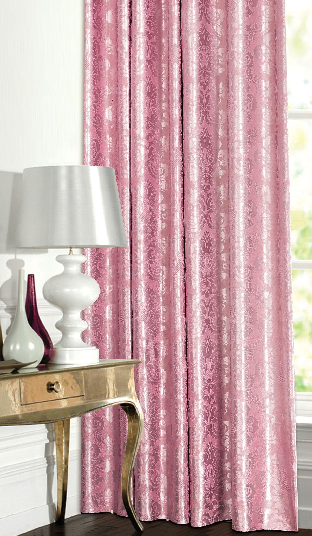 Штора готовая Garden, на ленте, цвет: розовый, 180х260 см. С 537392 V81004900000360Изящная штора для гостиной Garden выполнена из плотной ткани жаккард. Приятная текстура и цвет привлекут к себе внимание и органично впишутся в интерьер помещения. Штора крепится на карниз при помощи ленты, которая поможет красиво и равномерно задрапировать верх.