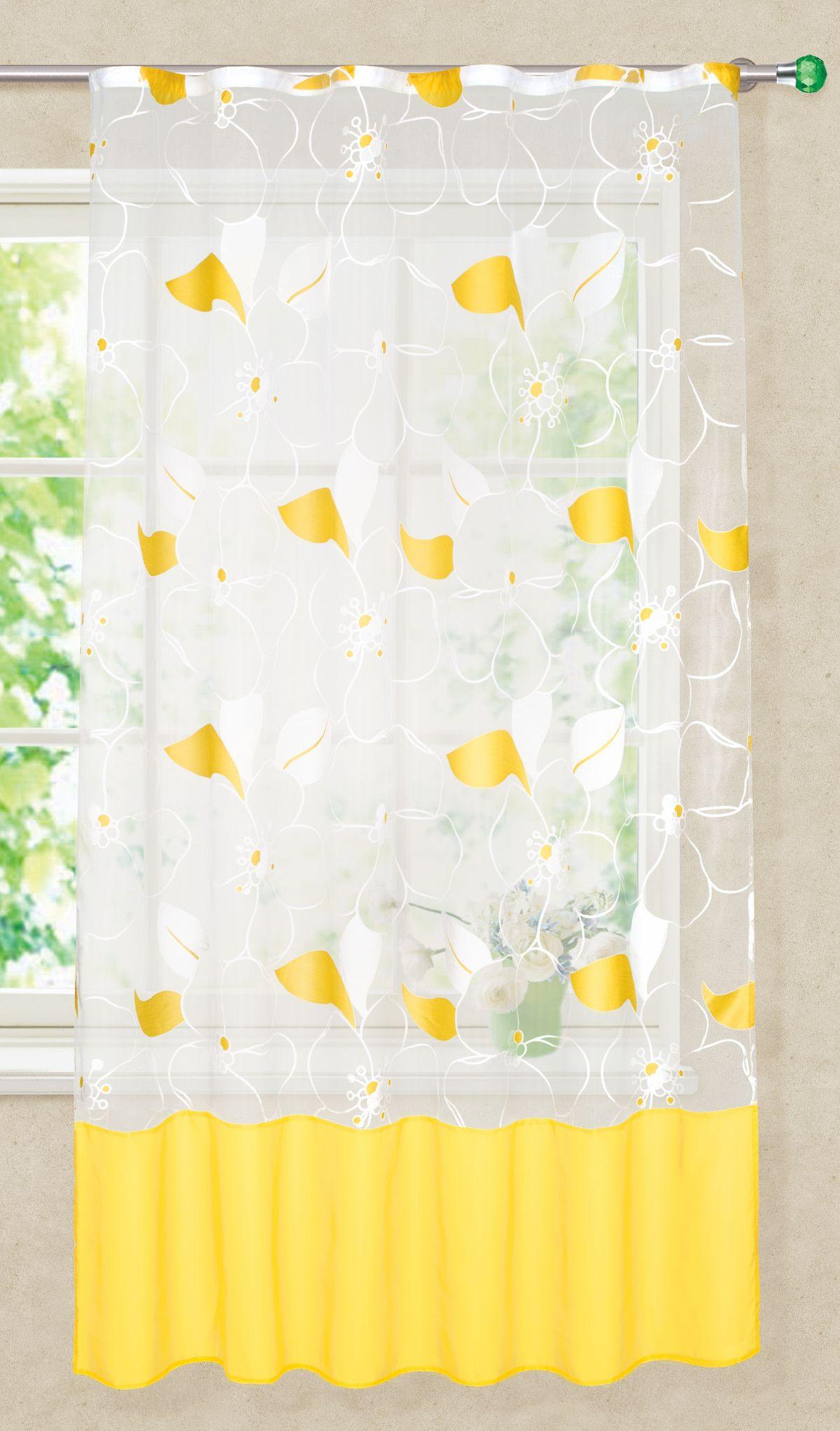 Штора готовая Garden, на ленте, для кухни, цвет: белый, 145х180 см. С 8136 - W260 V19S03301004Изящная штора для кухни Garden выполнена из легкой ткани. Приятная текстура и цвет штор привлекут к себе внимание и органично впишутся в интерьер помещения. Штора крепится на карниз при помощи ленты, которая поможет красиво и равномерно задрапировать верх.