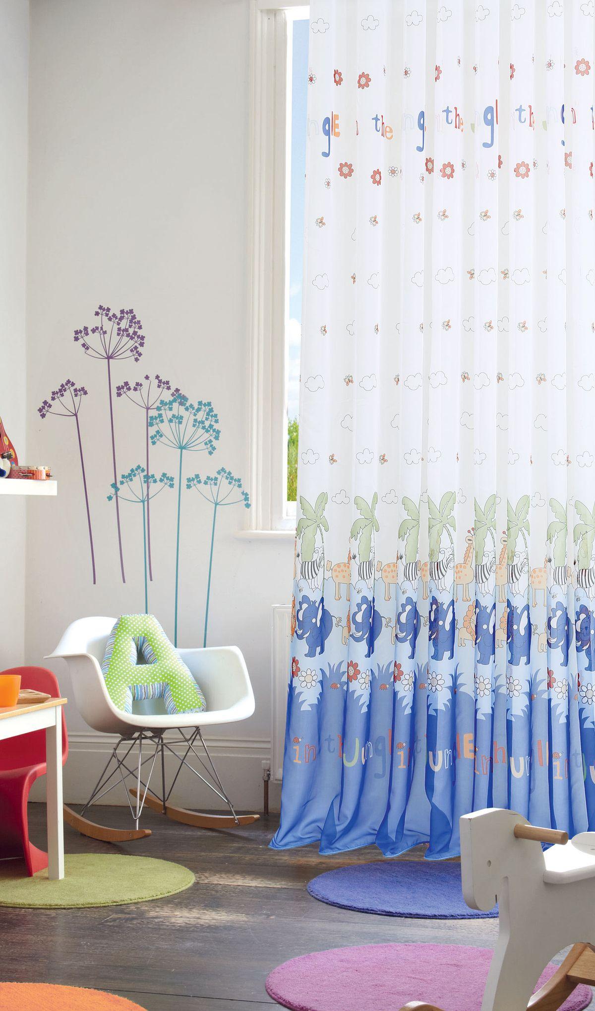 Штора готовая Garden, на ленте, цвет: синий, 300х270 см. С 9169 - W191 V14705543Изящная штора для детской комнаты Garden выполнена из легкой ткани с оригинальной структурой. Приятная текстура и цвет штор привлекут к себе внимание и органично впишутся в интерьер помещения. Штора крепится на карниз при помощи ленты, которая поможет красиво и равномерно задрапировать верх.