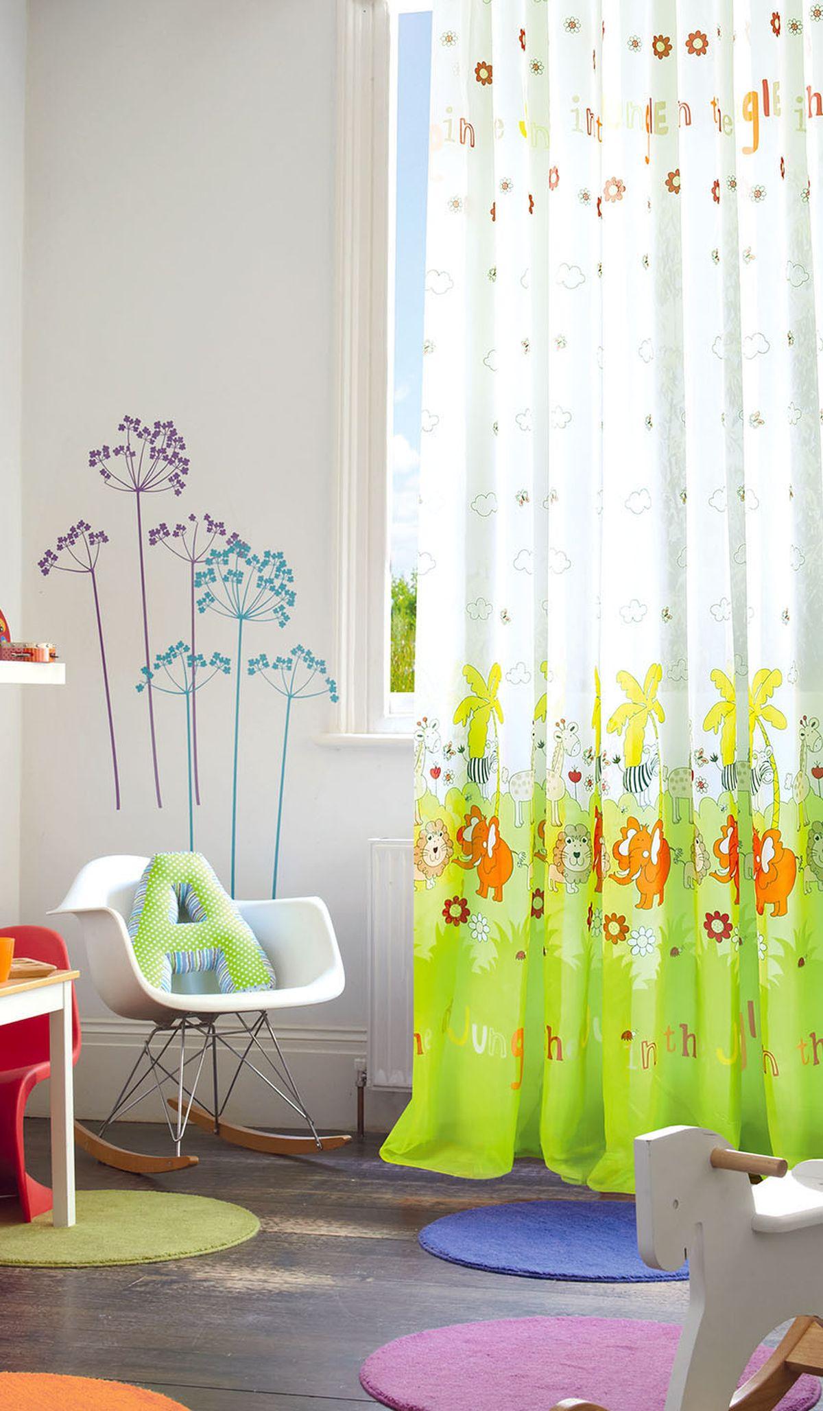 Штора готовая Garden, на ленте, цвет: зеленый , 300х270 см. С 9169 - W191 V8705547Изящная штора для детской комнаты Garden выполнена из легкой ткани с оригинальной структурой. Приятная текстура и цвет штор привлекут к себе внимание и органично впишутся в интерьер помещения. Штора крепится на карниз при помощи ленты, которая поможет красиво и равномерно задрапировать верх.