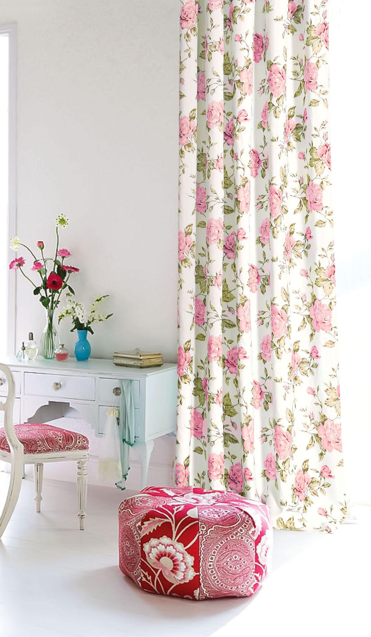 Штора готовая Garden, на ленте, цвет: розовый, 200х260 см. С 9184 - W1687 V211004900000360Изящная штора для гостиной Garden выполнена из плотной ткани. Приятная текстура и цвет привлекут к себе внимание и органично впишутся в интерьер помещения. Штора крепится на карниз при помощи ленты, которая поможет красиво и равномерно задрапировать верх.