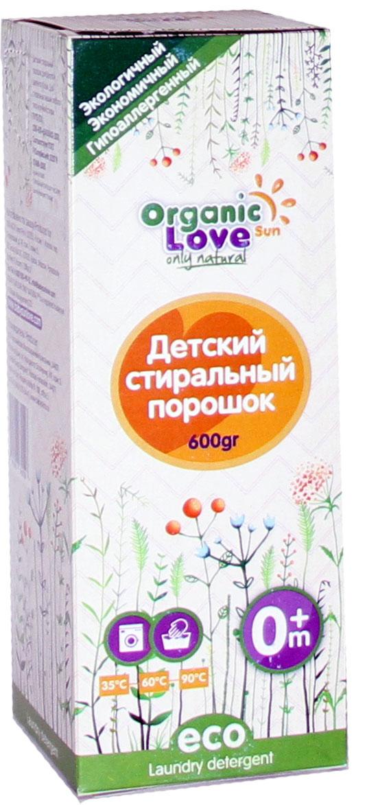 Organic Sun Love Детский стиральный порошок 600 гр20736Обеспечивает высокое качество стирки при малом расходе порошка. Не вызывает аллергии и раздражений. Произведен только из натурального сырья. Содержит более 30% натурального мыла. Не содержит фосфатов, хлора, цеолитов, а-пав, искусственных ароматизаторов. Обладает легким запахом натурального мыла, который полностью. Исчезает после полоскания. Защищает от накипи. Не наносит вред окружающей среде. •