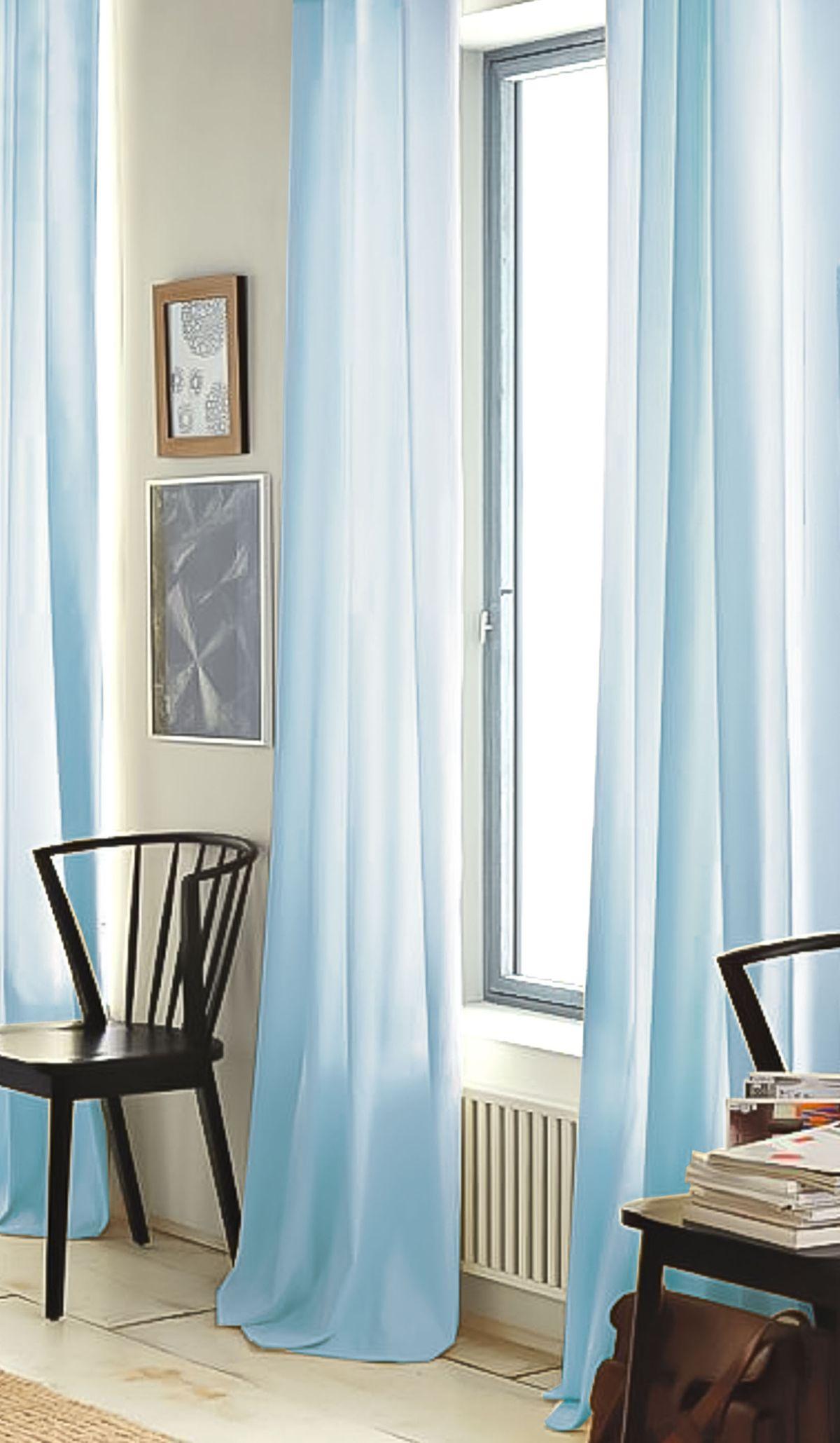 Штора готовая Garden, на ленте, цвет: бирюзовый, 300х260 см. С W356 300х260 V79066704490Тюлевая штора для гостиной Garden выполнена из легкой ткани, станет великолепным украшением любого окна. Воздушная ткань и приятная текстура создаст неповторимую атмосферу в вашем доме. Штора крепится на карниз при помощи ленты, которая поможет красиво и равномерно задрапировать верх.