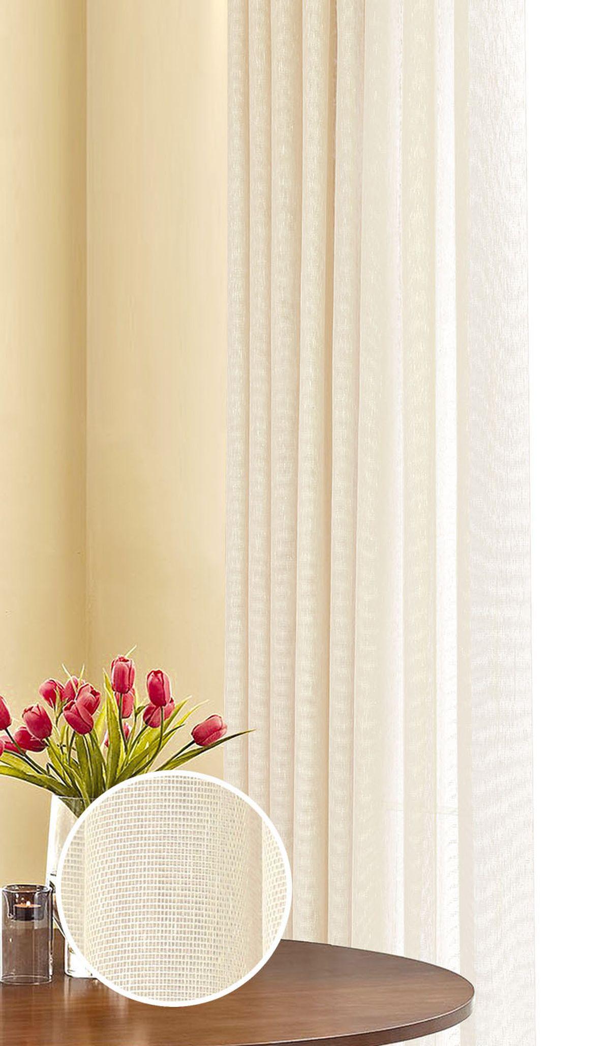 Штора готовая Garden, на ленте, цвет: бежевый, 290х180 см. С 537063 290х180 V7704Изящная штора Garden выполнена из ткани с оригинальной структурой. Приятная текстура и цвет штор привлекут к себе внимание и органично впишутся в интерьер помещения. Штора крепится на карниз при помощи ленты, которая поможет красиво и равномерно задрапировать верх.