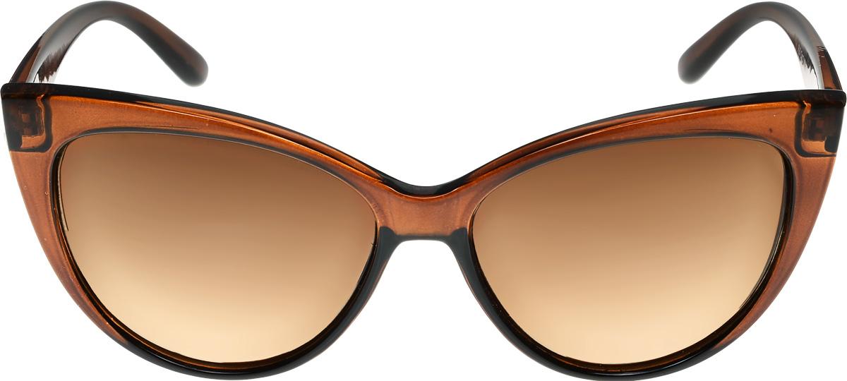Очки солнцезащитные женские Vittorio Richi, цвет: коричневый. ОСF26/17fINT-06501Очки солнцезащитные Vittorio Richi это знаменитое итальянское качество и традиционно изысканный дизайн.