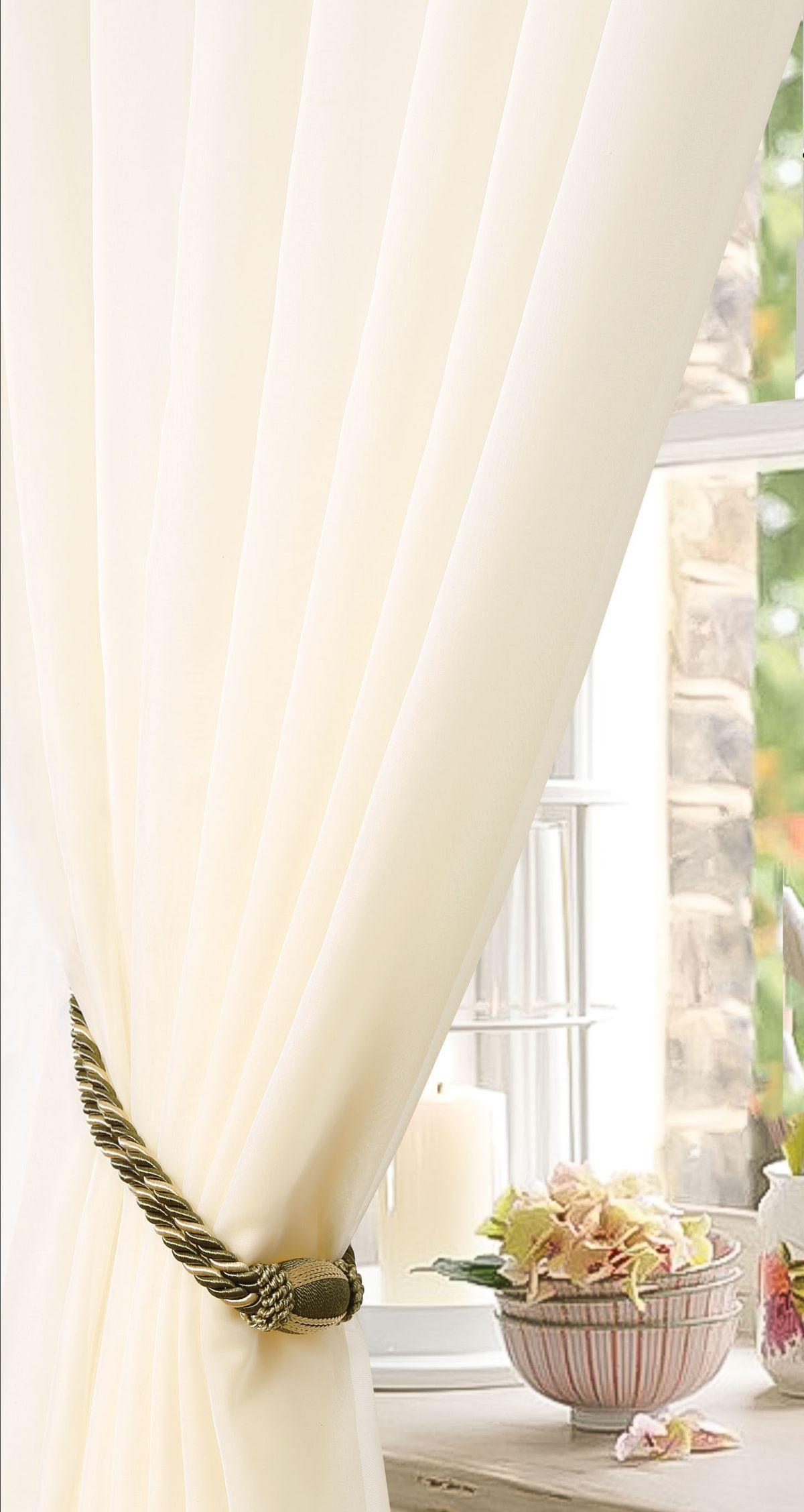 Штора готовая Garden, на ленте, цвет: бежевый, высота 270 см. С W191 450х270 V71002705476Тюлевая штора для гостиной Garden выполнена из легкой ткани - вуаль. Она станет великолепным украшением любого окна.Воздушная ткань и приятная текстура создаст неповторимую атмосферу в вашем доме. Штора крепится на карниз при помощи ленты, которая поможет красиво и равномерно задрапировать верх.