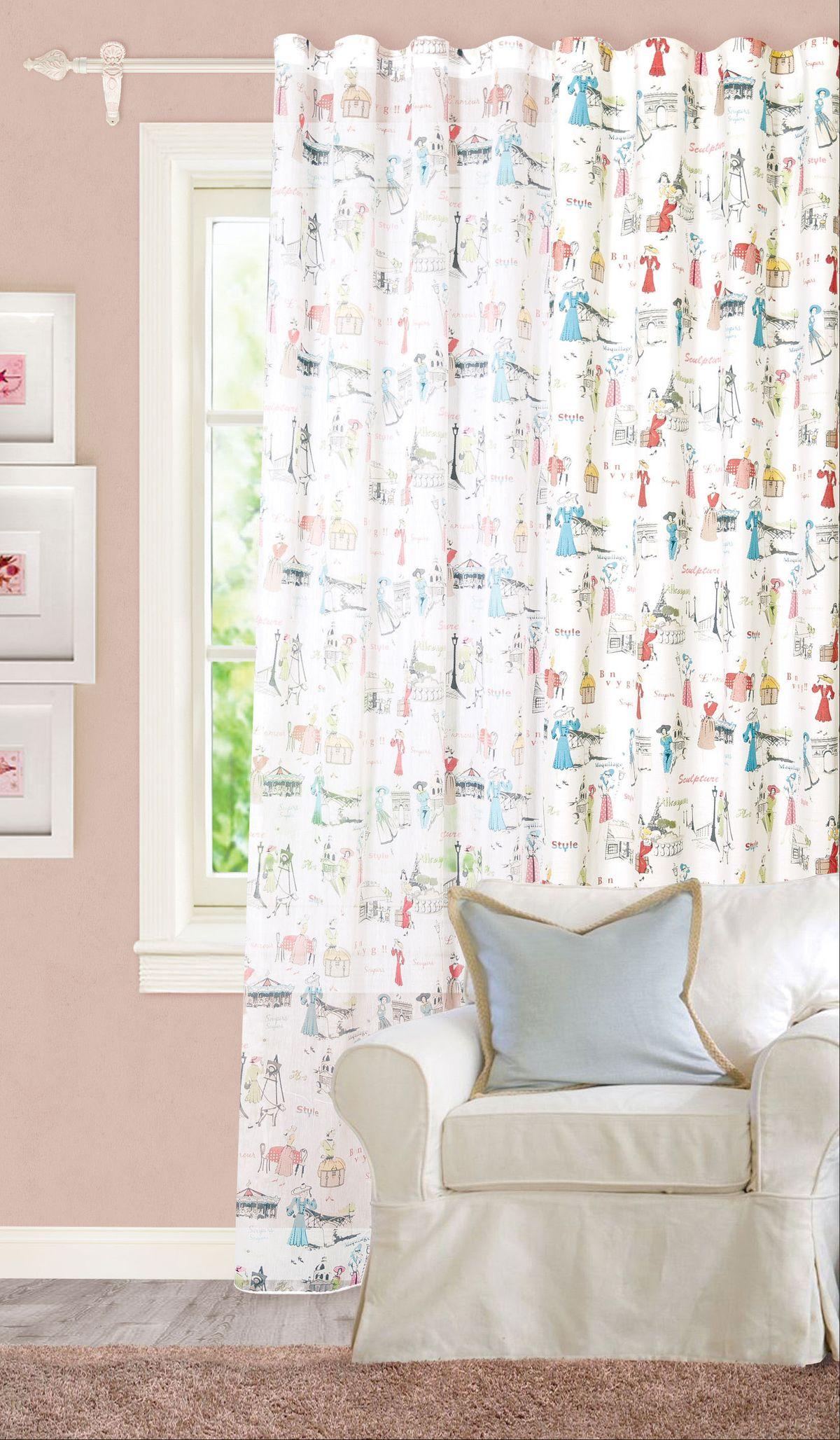 Штора Garden, на ленте, портьерная, цвет: белый, 200х260 см. С 8189 - W1687 V12_белый705547Изящная штора Garden выполнена из плотной ткани. Приятная текстура и цвет привлекут к себе внимание и органично впишутся в интерьер помещения. Штора крепится на карниз при помощи ленты, которая поможет красиво и равномерно задрапировать верх.