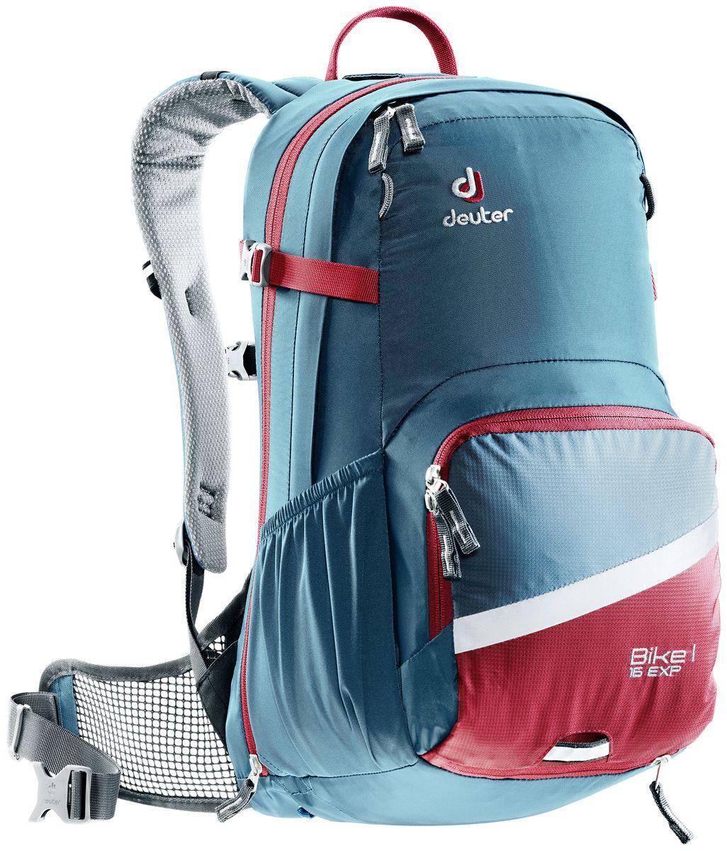 Рюкзак Deuter Bike I Air EXP 16, цвет: серый, 16 л3203017_3564Deuter представляет новый велорюкзак в классическом дизайне, который выглядит как предок этого рюкзака 25 летней давности. Но при этом новый Bike I выполнен по современным технологиями и с использованием лучших материалов. Рюкзак отлично подойдет для однодневных поездок на природе или в городе.Особенности:- съемный держатель для шлема;- прекрасная вентиляция, плотное прилегание к спине, благодаря системе Airstripes с регулируемыми стойками каркаса (Bike I 18 SL & 20);- максимальная вентиляция благодаря сетчатой FlexLite спинке AIRCOMFORT (Bike I Air EXP 16);- хорошо вентилируемые, легкие, сетчатые набедренные крылья пояса (Bike I 18 SL, Air EXP 16 & 20);- поясной ремень (Bike I 14);- чехол от дождя на молнии;- удобные плечевые лямки с мягкими краями Soft-Edge;- съемный, складывающийся дождевик;- компрессионные ремни;- большой карман на молнии с органайзером и карабином для ключей и отделениями для мобильного телефона, бумажника, инструментов и т.д.;- легкодоступное отделение на молнии для смартфона или карты на задней стороне;- эластичные боковые карманы;- большие 3M отражающие полосы на переднем кармане;- светоотражающая петля для габаритного фонарика;- отделение для влажной одежды;- совместимость с питьевой системой;Вес: 1050 г.Объем: 16 + 4 л.Размеры: 48 x 25 x 22 см.